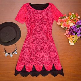 Vestido Em Renda Rosa