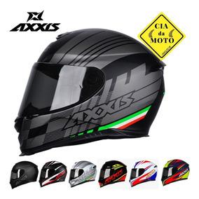 Capacete Moto Mt Axxis Várias Cores Promoção Barato