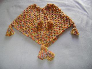 Poncho Niño Tejido A Crochet
