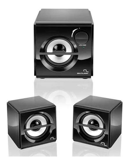 Caixa De Som 2.1 10w Rms Preto Subwoofer Box Usb - Sp081
