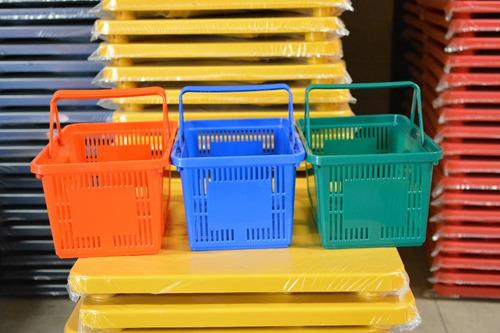 Cesta Para Mercado Con Asa Plástica