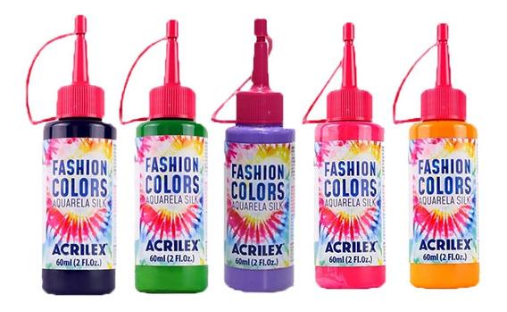 Tinta Aquarela Silk Kit 5 Bisnagas Tie Dye