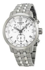 Relógio Tissot Prc200 T055.417.11.017.00 Branco Novo Aço