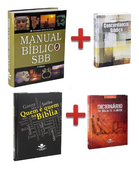 Manual Bíblico + Concordância + Dicionário + Quem É Quem