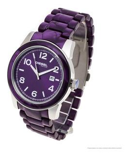 Reloj Diesel Mujer 6200 - Acero Y Acetato Fecha Wr30