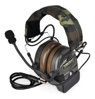 Headset Z-tac Comtac L, Amplificador, Fone De Ouvido.