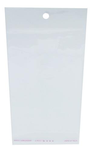 1000 Saquinhos Autocolante Bopp Com Furo - 10x15 Cm