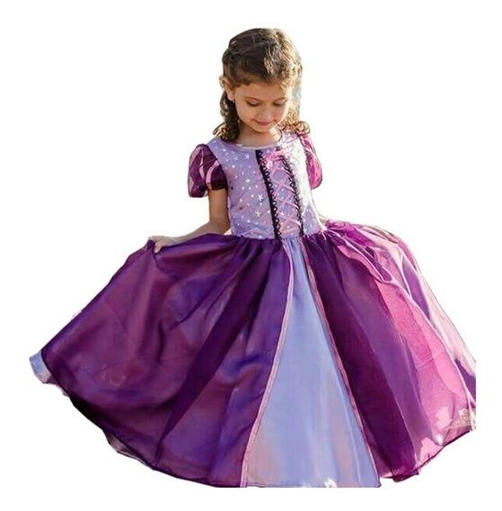 Vestido Disfraz Princesa Rapunzel De Disney (enredados)