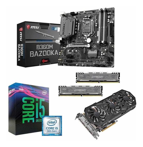 Kit Intel I5 9400f + Msi B360m Bazooka + 16gb 2666 + Gtx 970