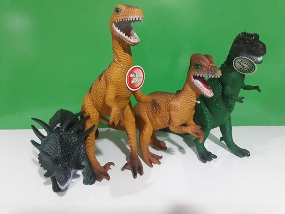 4 Super Dinossauro Tamanho Grande Verde Escuro