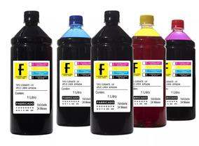 5 Litros Refil Tinta Impressora Ecotank L395 L455 L475 L555