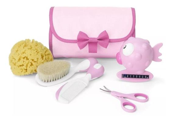 Kit Higiene E Cuidados Do Bebê Completo Chicco Rosa Ou Azul