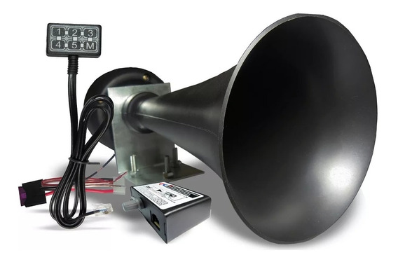 Sirene De Policia Tipo Rontan 6 Sons Megafone Microfone 100w