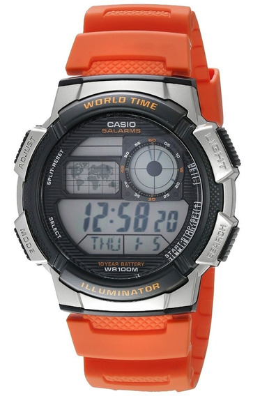 Casio World Time Illuminator Ae-1000w-4avcf Reloj Digital