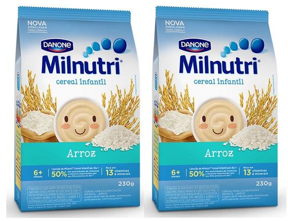 Kit 2 Cereal Milnutri Arroz - 230g Cada