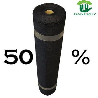 Tela Sombrite Preta 50% - 3 Metros X 50 Metros