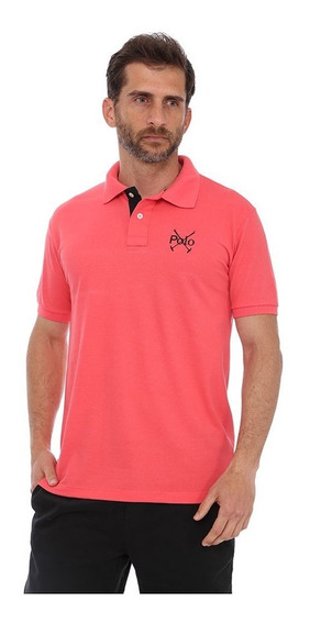 Camisa Polo England Polo Club Slim Goiaba