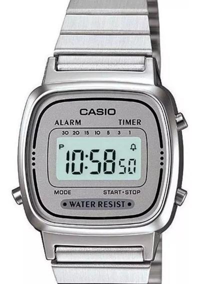 Relógio Casio Prata Feminino La670 Vintage Tamanho Mini