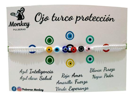 Pulsera De Ojitos Tejida
