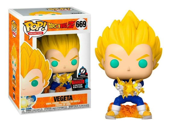 Boneco Funko Pop Dragon Ball Z Vegeta Nycc2019 Exclusive 669