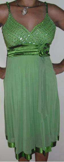 Vestido Para Fiesta Verde, Talla Única (sirve Para S Y M)