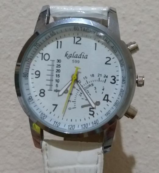 Relógio Branco Luxo Pulso Feminino Quartz Analógico Promoção
