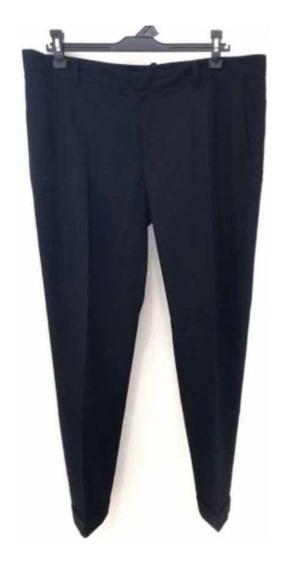 Pantalón De Vestir Zara Color Negro - Talle Eur 40 / Usa 8