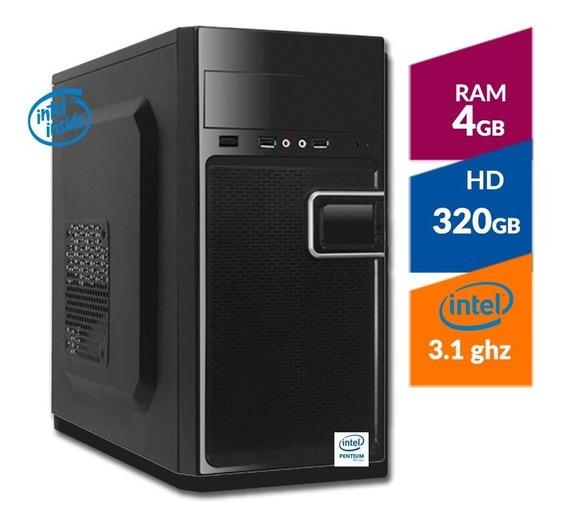 Pc Intel G4900 8ª Ger + Hd 320gb + 4gb Ddr4 2400mhz