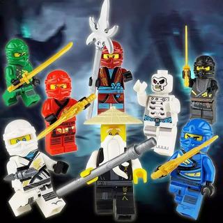 Kit De 8 Mini Figuras Ninjago Tipo Lego