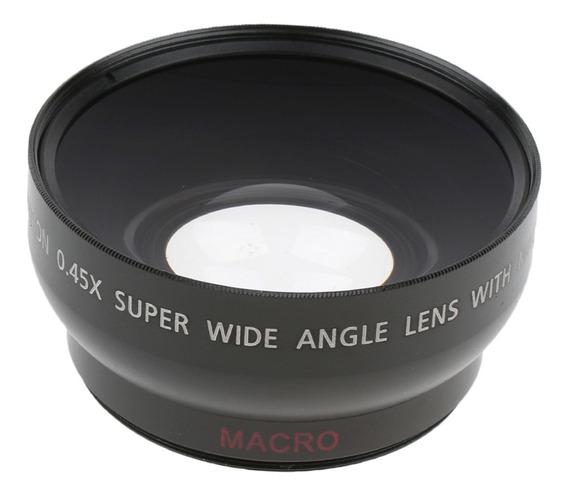 Lente Macro Grande Ângulo 0.45x De 52mm Para Câmera Sony C