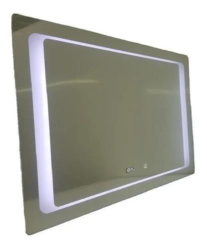 Espejo Baño Luz Led  Desempañador 120 X 70 Reloj Digital