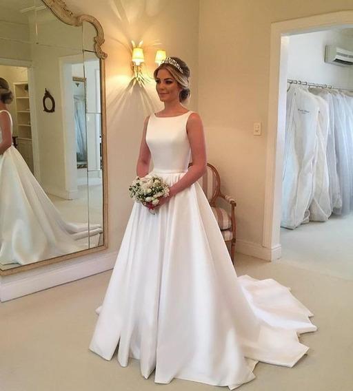 Vestido De Noiva, Elegante, Singela, Discreto