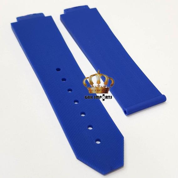 Pulseira P/ Hublot 22/20 Feminino Cor Azul - Alta Qualidade
