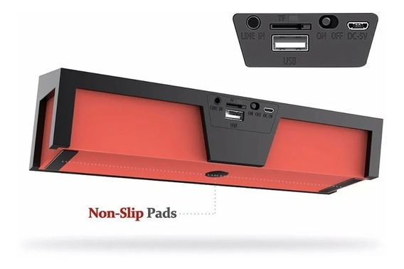 Caixa Som Lewinner Bluetooth + Nfc Micro Sd Fm P2