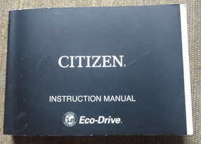 Manual Citizen Aqualand Eco Drive - C. B74* - Conservado