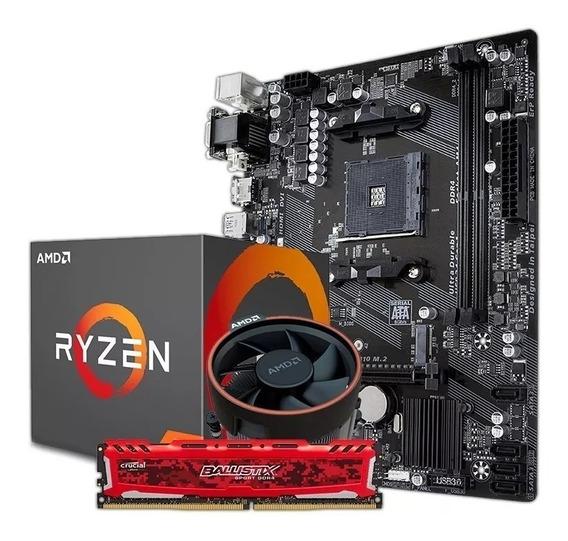 Combo Actualizacion Pc Amd Ryzen 7 2700 + 4gb Fullh4rd