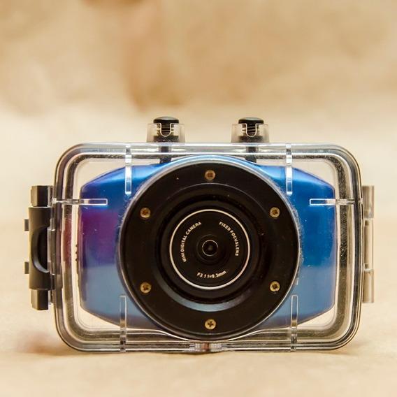 Câmera De Ação Com Case (não É Gopro)