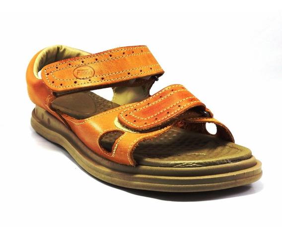 Sandalia Papete Chinelo Masculina Couro Legítimo Ortopédica