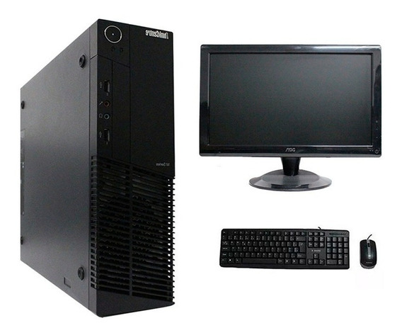 Computador Lenovo Thinkcenter M92 I5 8gb 120ssd Monitor 18