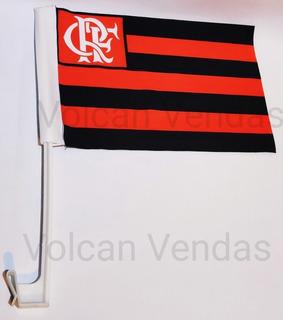 Bandeirinha Flamengo Base Suporte Carro 30cmx20cm Mengão