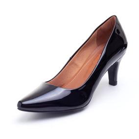ed0500a1fd Scarpin Preto Com Sola Rosa Sapatos - Sapatos no Mercado Livre Brasil