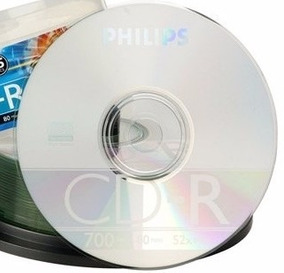 Cd-rw Philips Regravável 80min 700mb