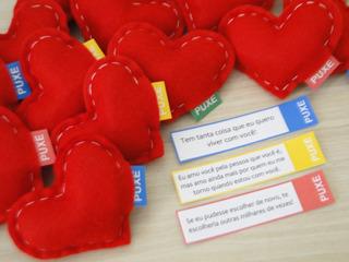 Presente Surpresa Dia Dos Namorados 15 Corações C/mensagem