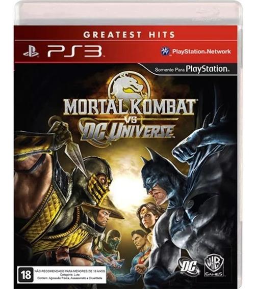 Mortal Kombat Vs Dc Universe (mídia Física) - Playstation 3