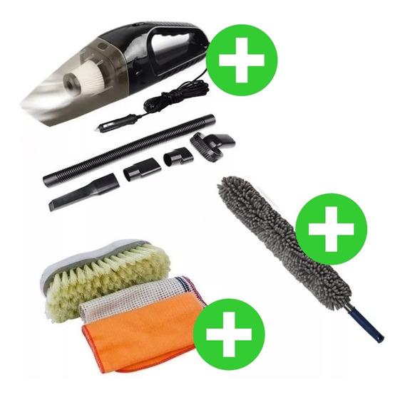 Kit Aspiradora C/ Filtro + Lampazo 55cm + Cepillo + Trapos Cuotas Sin Interes