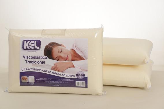 Travesseiro Nasa Viscoelástico Kel Kit / 3un 14cm Alt.