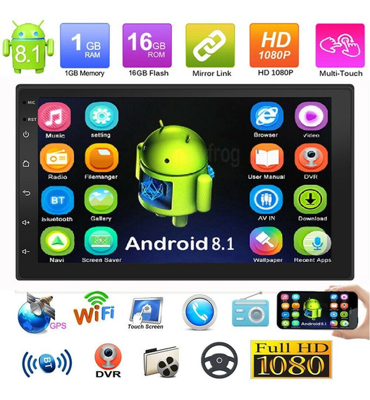 Radio Doble Din Android 8.1 Pantalla Bt Gps Touch+obsequio