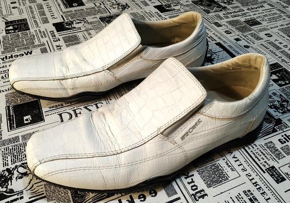 Zapato Urbano Stone De Vestir Cuero Blanco Talle 43 Usados