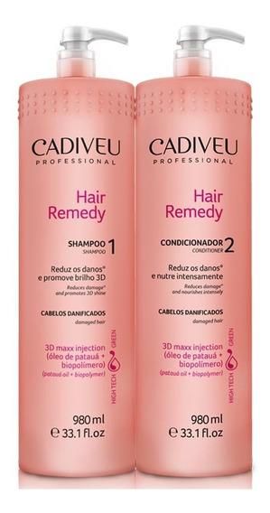 Cadiveu Hair Remedy Kit Lavatório 2 Produtos