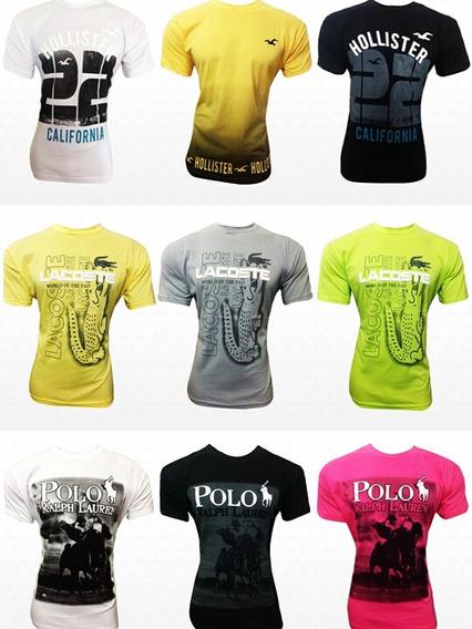 Kit Com 10 Camisetas Plus Size Sortidas Masculinas Originais